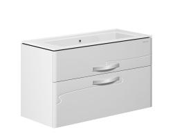 Тумба Edelform Nota 105 105 см. 35689 (белая, подвесная, два ящика)