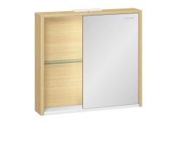 Зеркало-шкаф Edelform Unica 80 75 см. 2-744-45-S (дуб гальяно-белый)