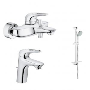 Комплект смесителей для ванной комнаты Grohe Eurostyle New 124416