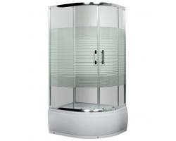 Душевой уголок Luxus L013 L Lang 100x80 (левый, прозрачное стекло, низкий поддон)