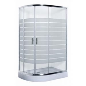 Душевой уголок Luxus L013 R Lang 100x80 (правый, прозрачное стекло, низкий поддон)