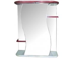 Зеркало Спектр Лира 55 (красно-белый декор, с подсветкой)