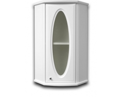 Шкаф подвесной угловой Норта-Аква Астор 05 со вставкой