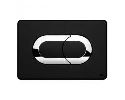 Смывная клавиша Oli Salina 640097 (чёрная, хром глянец)