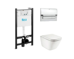 Комплект инсталляции с унитазом Roca Pack Gap Clean Rim 7.8931.0.410.0 (893104100)
