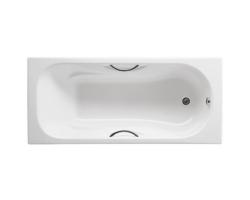 Чугунная ванна Roca Malibu 160x70 7.2334.G.000.0 (2334G0000) (с противоскользящим покрытием и отверстием под ручки)