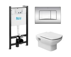 Комплект инсталляция Roca Active WC A890110015 и унитаз Roca Dama Senso 346517000 (микролифт)