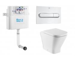 Комплект бачок для скрытого монтажа Roca Basic Tank 890090200 и унитаз Roca Gap 347477000 (микролифт)
