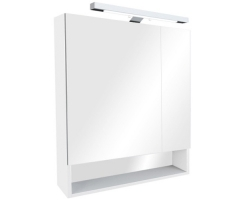 Зеркало-шкаф Roca Gap 80 ZRU9302887 80 см. (белое, глянцевое)