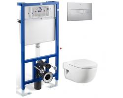 Комплект инсталляция Roca PRO WC 89009000K и унитаз Roca Meridian-N 734624700 (микролифт)