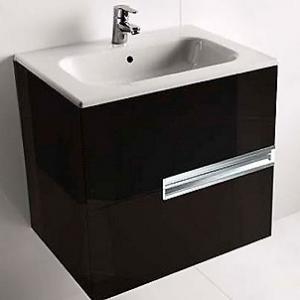 Тумба Roca Victoria Nord Black Edition 60 см. Z.RU90.0.009.6 (ZRU9000096) (чёрный глянец, два ящика)