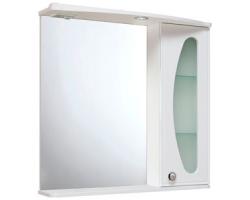 Зеркало Руно Линда Люкс 75 (белое, правое)