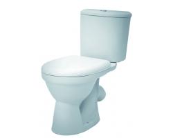 Унитаз напольный Сантек Бореаль 1.WH30.2.144 (косой, тарельчатый, дюропластовое сиденье)