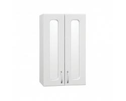 Подвесной шкаф Style Line Эко Стандарт 48 белый с зеркальными вставками