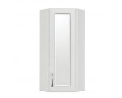 Шкаф с зеркальной вставкой Style Line Эко Стандарт 30 угловой белый