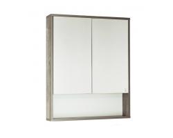 Зеркальный шкаф Style Line Экзотик 75 древесина/белый