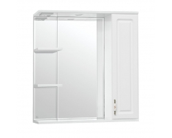 Зеркало-шкаф Style Line Олеандр-2 75/С Люкс белый