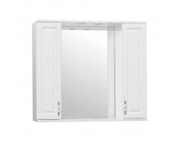 Зеркало-шкаф Style Line Олеандр-2 90/С Люкс белый