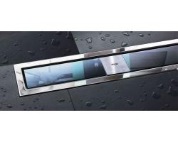 Дизайн-решётка Viega Advantix Visign ER9 616939 80 см. (стекло светло-серое)