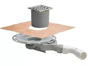 Трап для душа Viega 687700 (ультраплоский, с гидрозатвором, решётка нержавеющая сталь)