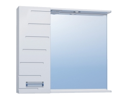 Зеркало Vigo Diana 800 80 см. (№18-800Л, белое, левое)