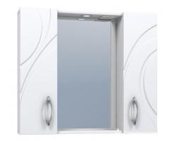 Зеркало Vigo Mirella 800 80 см. (№36-800, белое)