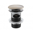 Донный клапан Wasser Kraft Push-up А046 (светлая бронза)