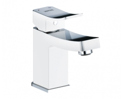 Смеситель для раковины Wasser Kraft Aller White 1063 (белый, хром глянец)