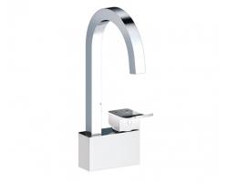 Смеситель для кухни Wasser Kraft Aller White 1067 (белый, хром глянец)