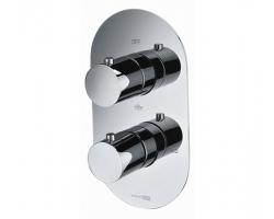 Смеситель термостатический для ванны со встроенной системой монтажа Wasser Kraft Berkel Thermo 4844