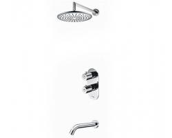 Душевая система c термостатом и изливом Wasser Kraft A15030 (скрытое подключение)