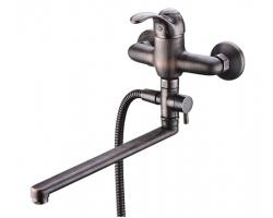 Смеситель для ванны Wasser Kraft Isar 1302L (тёмная бронза)