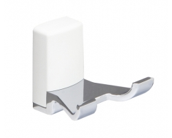 Крючок двойной Wasser Kraft Leine White К-5023 (белый, хром глянец)