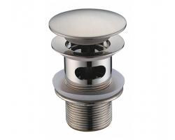 Донный клапан Wasser Kraft Push-up A073 (матовый хром)