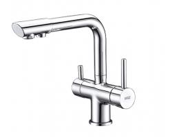 Смеситель для кухни с краном для питьевой воды Wasser Kraft А8017 (хром)