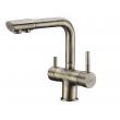 Смеситель для кухни с краном для питьевой воды Wasser Kraft А8037 (светлая бронза)